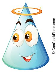 Blue cone with happy face