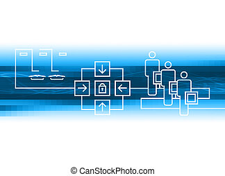 blue connection