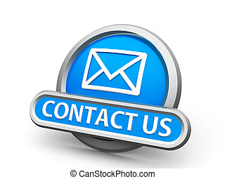 Blue contact us icon