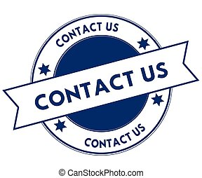 Blue CONTACT US stamp.