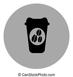 blue contour coffee espresso icon