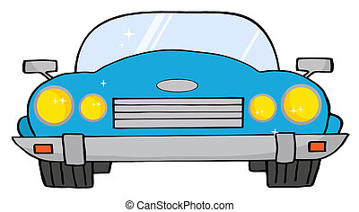 Blue Convertible Car