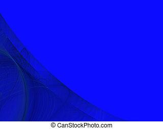 Blue Copy Space With Corner Design