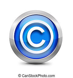 blue copyright button
