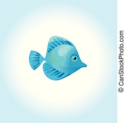 blue coral fish. vector illustration