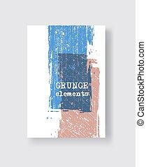 Blue coral grunge brush stroke on white background. Minimalistic style.