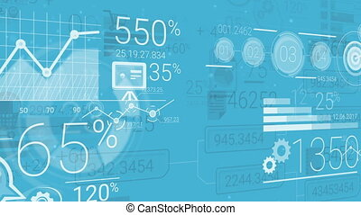 Blue Corporate Background With Abstract Elements Of...