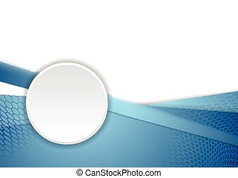 Blue corporate background with circle