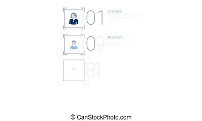 Blue Corporate Infographic Element With Alpha Channel - Blue...
