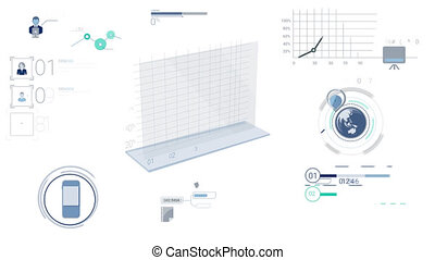 Blue Corporate Infographic Elements With Alpha Channel -...