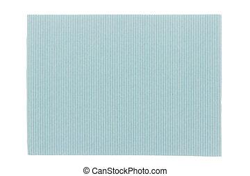 Blue corrugated cardboard texture