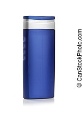 Blue cosmetic bottle