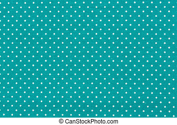 Blue cotton fabric in vintage dots pattern.