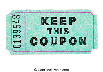 blue coupon ticket