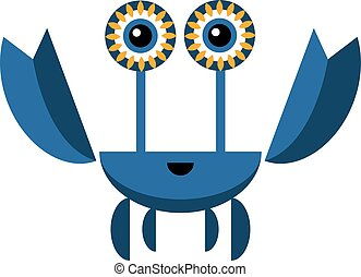 Blue crab illustration on white background