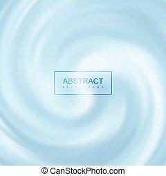 Blue Creamy Swirling Background.