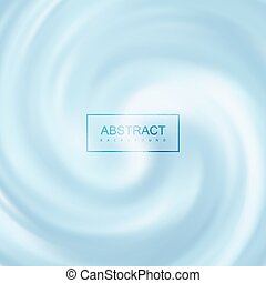 Blue Creamy Swirling Background. Vector Illustration....