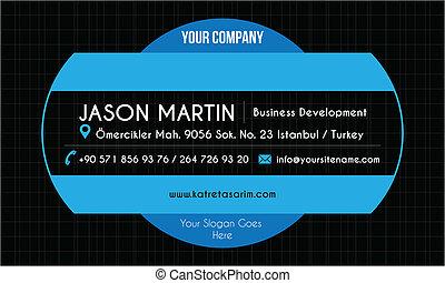 Blue creative business card