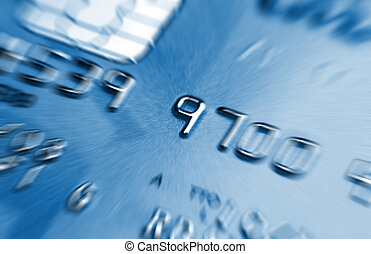 blue credit card - fine blue image of classic credit card...