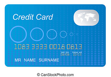 blue credit card vecto