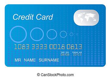 blue credit card vecto