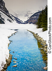 Blue Creek from Lake Louise