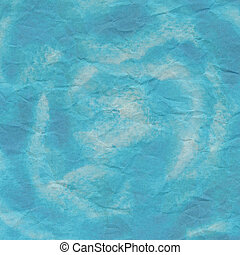 Blue crumpled paper for background