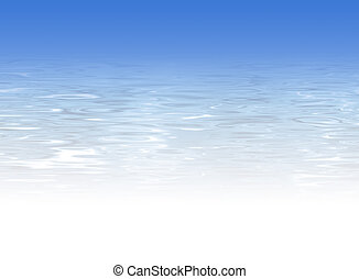 Blue crystal clear water background