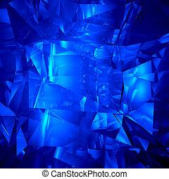 Blue crystal facet background