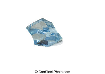 Blue crystal isolated over white