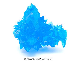 blue crystal on a white background