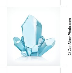 Blue crystal, vector icon