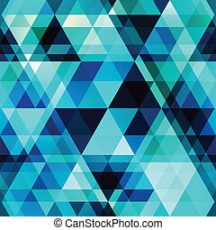 blue crystal vector seamless pattern
