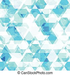 blue crystals seamless pattern