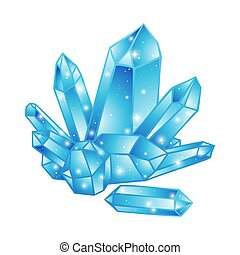 Blue crystals vector illustration - Blue crystals druse...