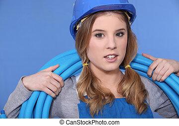 blue cső, műanyag