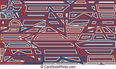 blue csillag, illustration., elvont, megvonalaz, kreatív, dekoráció, háttér., vektor, tervezés, piros, backdrop.