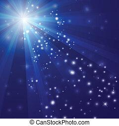 blue csillogó, elvont, ábra, vektor, háttér