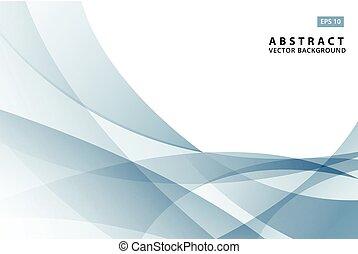 blue csillogó, elvont, modern, ábra, lenget, vektor, háttér, elem