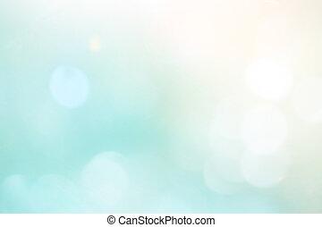 blue csillogó, gyönyörű, bokeh, háttér