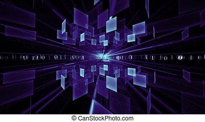Blue Cubes in Rotation, Matrix