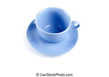 Blue cup with saucer