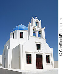 Blue cupola on Greek church