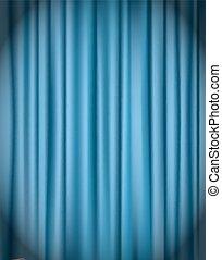 blue curtain background vector illustration