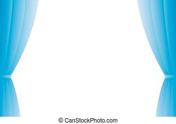 Blue curtain.
