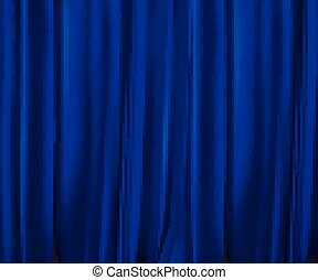 Blue curtains background.
