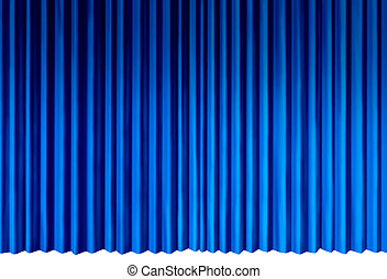 Blue Curtains object as indigo cool velvet drapes...