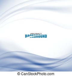 Blue curve abstract background