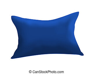 Blue cushion isolated on white