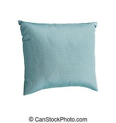 Blue cushion isolated